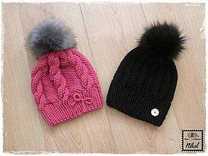 Detské čiapky - pletená čiapka \