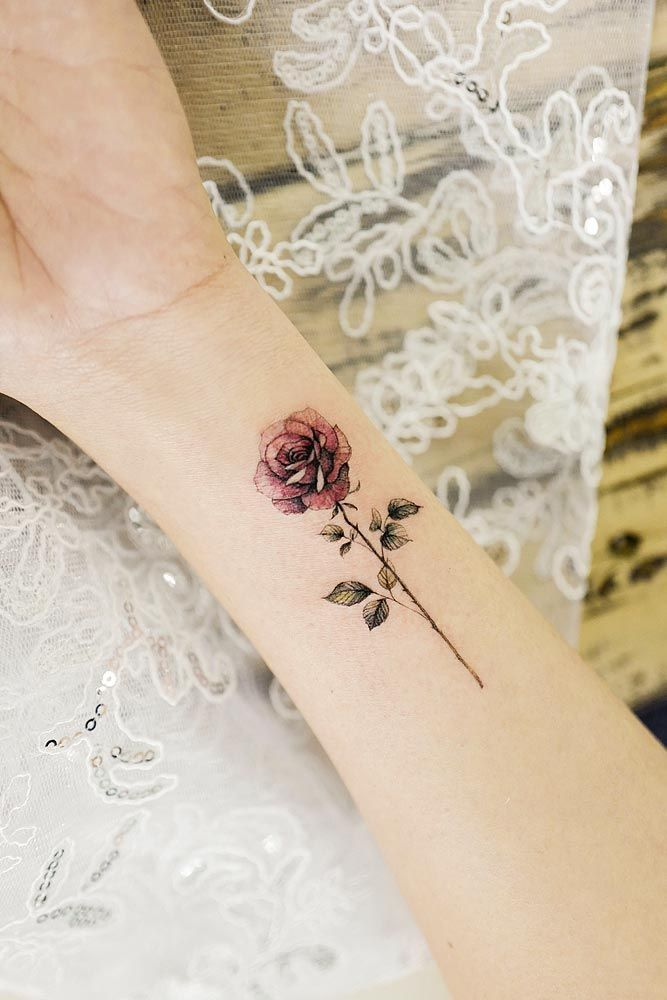 Tattoo Ideas For Women Small Dainty Cute Rose Tattoos On Wrist Single Rose Tattoos Tattoo Designs Wrist