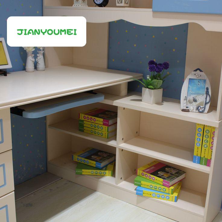 Книжные полки углового детского стола для компьютера из МДФ купить в интернете…