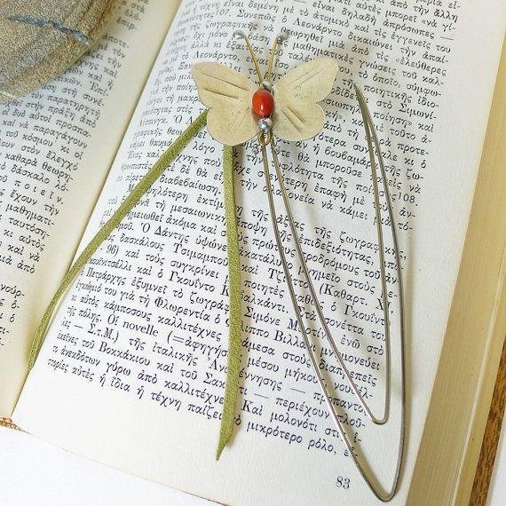 Bookmark butterfly,Desk Accessory,Office Accessory,Gift Idea for her,Friend Gift Idea,Art Sculpture Figure,Handmade metal object