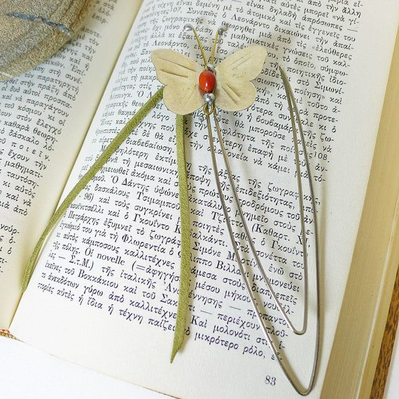 Bookmark butterfly,Desk Accessory,Office Accessory,Gift Idea for her,Friend Gift Idea,Art Sculpture Figure,Handmade metal object