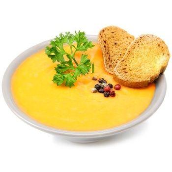 Dýňová polévka s parmezánem