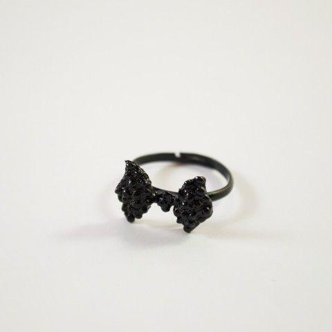 Bague noeud de couleur noir