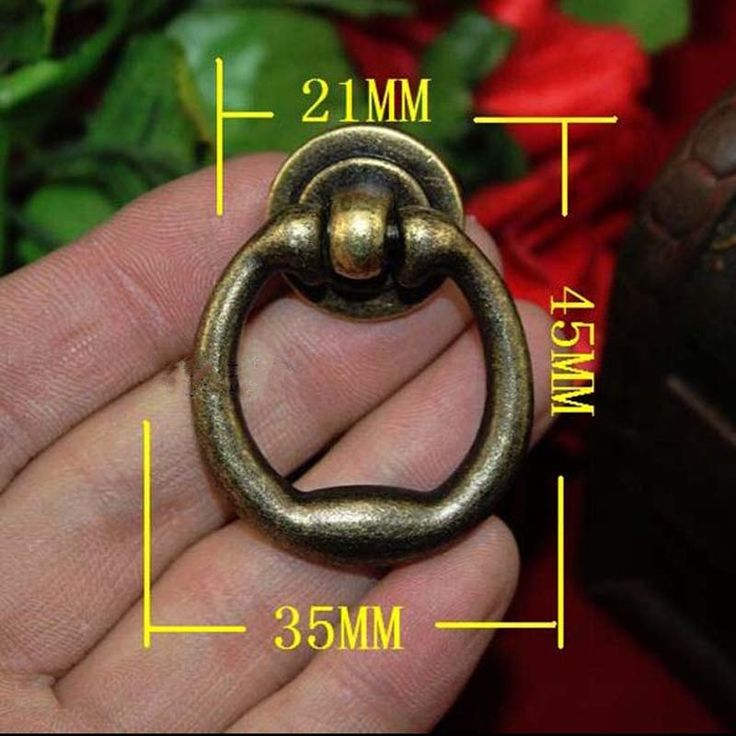 Винтаж бедствия шаткой кольца мебель дверную ручку античная латунь ящика шкаф комод ручки бронзовые Кольца лотоса ручки(China (Mainland))