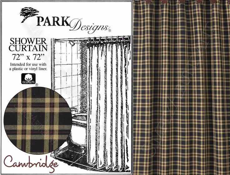 black tan u0026 red plaid shower curtain park designs cambridge shower curtain