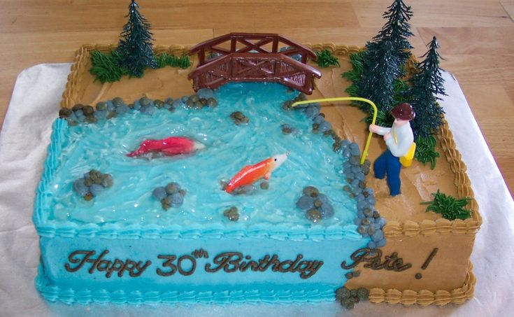 Fisherman+Birthday+Cakes | Fishing Theme — Birthday Cakes
