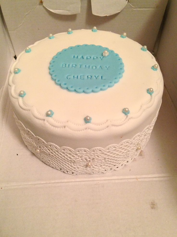 Birthday cake with lace