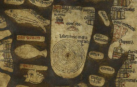 The Hereford Mappa Mundi - The Cretan Labyrinth