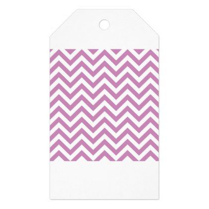 Violet Purple Chevron Pattern Gift Tags - patterns pattern special unique design gift idea diy
