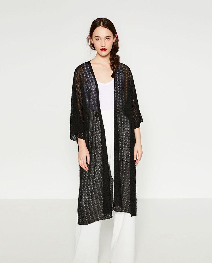 Image 2 of OPENWORK COAT from Zara