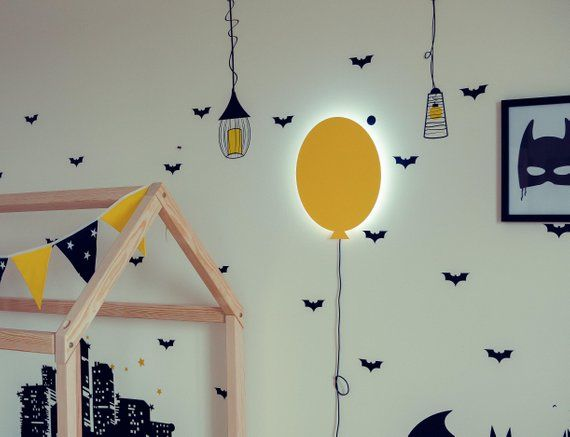 Baloon Lamp For Children Bedroom Lamp Shade Kids Room Light Up