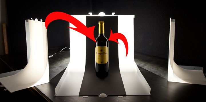 Wine bottle product photography tips