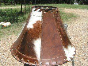 Cowhide Leather Lamp Shade Rustic Western 1351 #Handmade #Southwestern