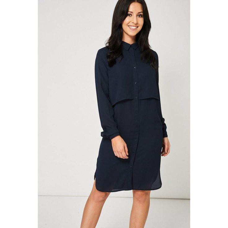 Navy Blue Shirt Dress Ex-Branded