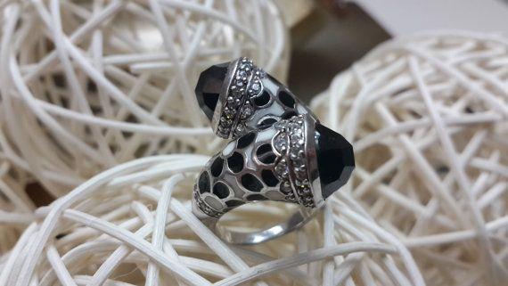Vintage  925 Sterling Silver adjustable Ring 2 by Myowncoffee