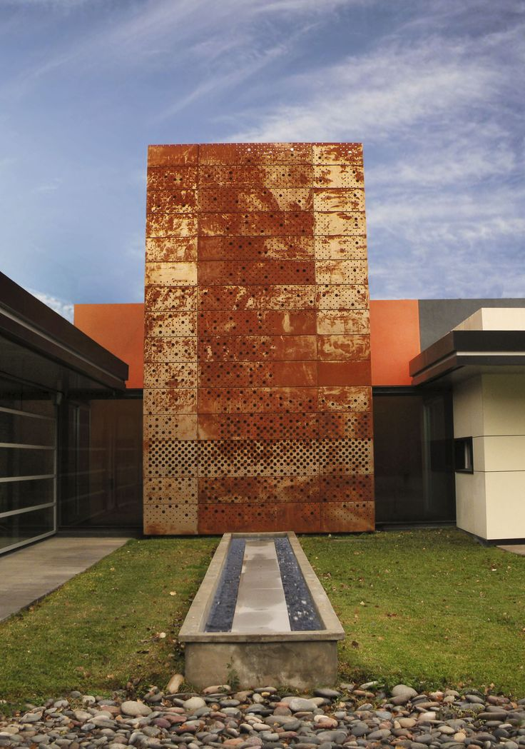 Acero corten aplicaciones fachadas parasoles for Fachada acero corten