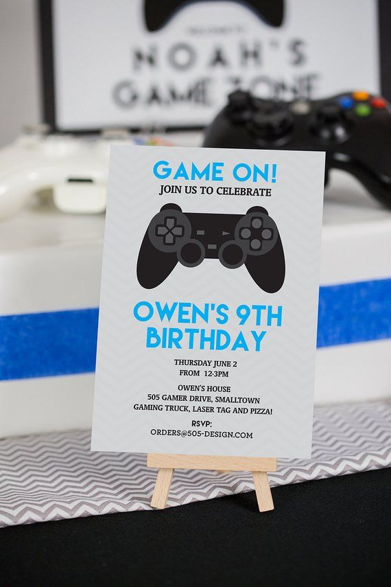 laser tag Banner birthday Game truck Digital file only Laser tag video game Boys birthday party decor