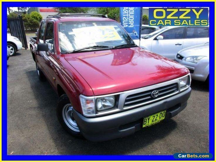 1998 Toyota Hilux RZN149R Burgundy Manual 5sp M Dual Cab Pick-up #toyota #hilux #forsale #australia