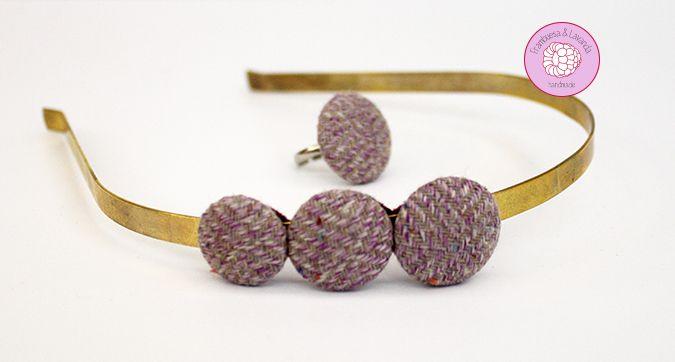 #diadema y #anillo de #botones #handmade