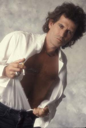 Some excellent Keith Richards' beefcake by Lynn Goldsmith, late 1980's