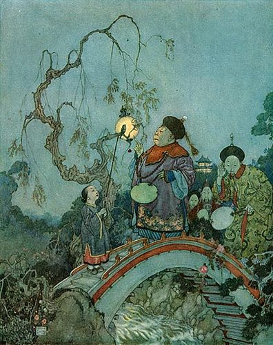 Edmund Dulac, Nightingale Bridge 1913 #dulac #illustration