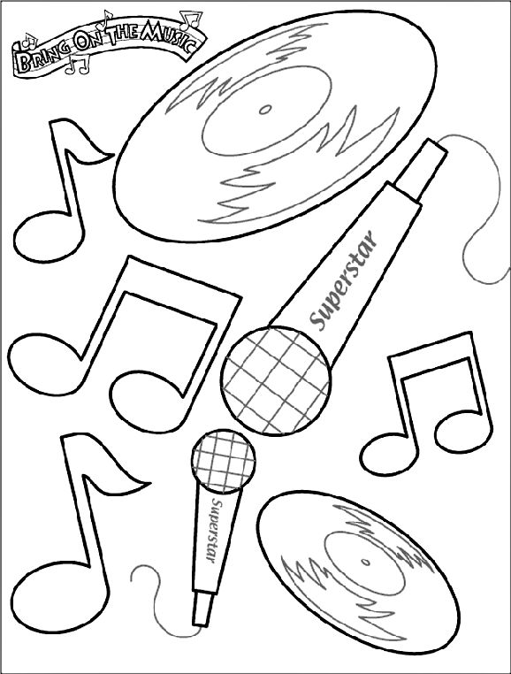 Bring on the Music coloring page from Crayola