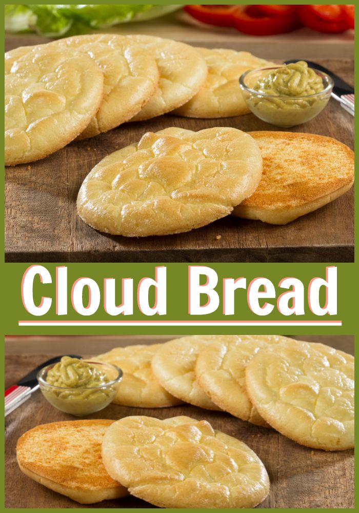 Cloud Bread is a totally gluten-free, low-carb, low-calorie, and low-fat bread alternative. It's a healthier choice that looks like a fluffy cloud and tastes so good!