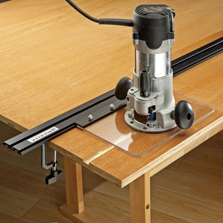 Power Tool Guide Kit with Mounting Hardware For Straight Edge System - Rockler Woodworking Tools