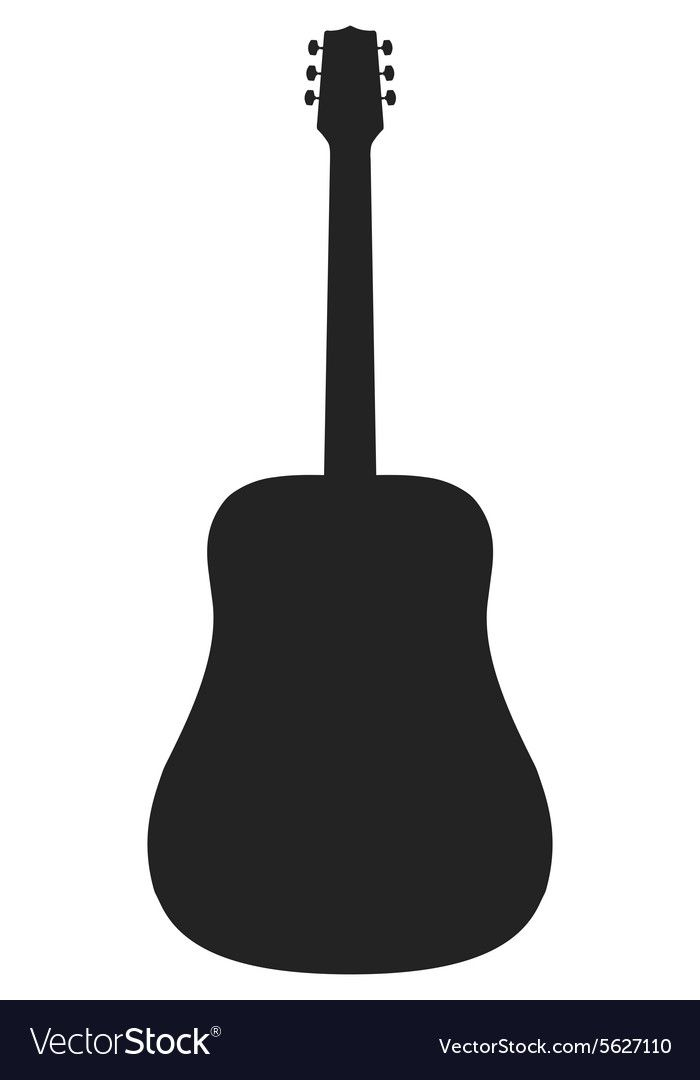 Silhouette Of Acoustic Guitar Royalty Free Vector Image Aff Guitar Acoustic Silhouette Royalty Ad Vector Free Vector Images Free Vector Images