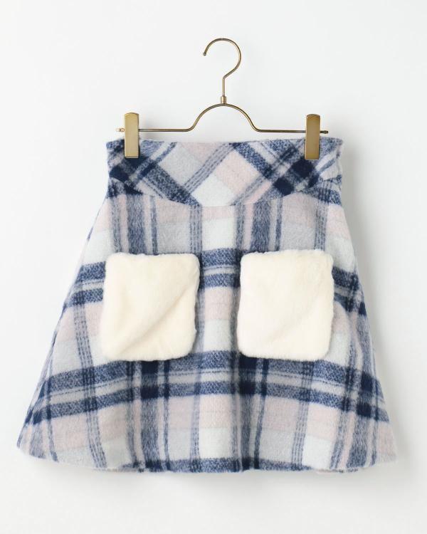 【雑誌掲載】先染めチェック台形スカート 渋谷109で人気のガーリーファッション リズリサ公式通販