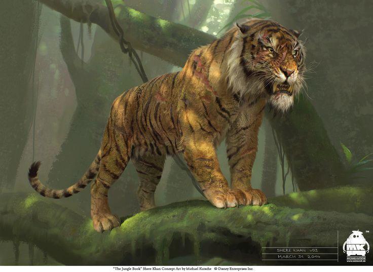 The Jungle Book: Shere Khan concept, Michael Kutsche on ArtStation at https://www.artstation.com/artwork/eDdXX