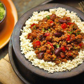 Laga chili med blomkålsris! Quorns (lakto ovo) vegetariska och lättlagade middagstips är ett hälsosamt alternativ till kött.