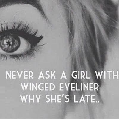 The #TrueStory of the winged eye liner! ;)