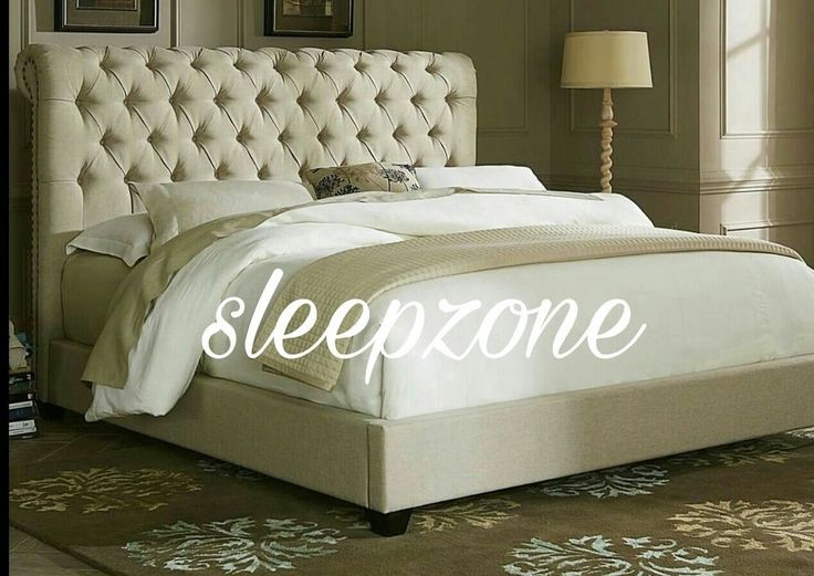 sleigh upholstery double king size bed frame mattress fabric
