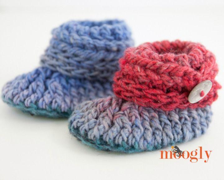 Encantador Los Patrones De Crochet Libre Para Zapatos Del Bebé ...