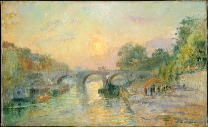 Pont-Marie at sunset, Albert Charles Lebourg, c. 1900-1914    Musee des Beaux-Arts Montreal