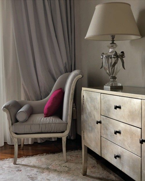 I really love this black grey cream and plum color combo for Plum and cream bedroom designs