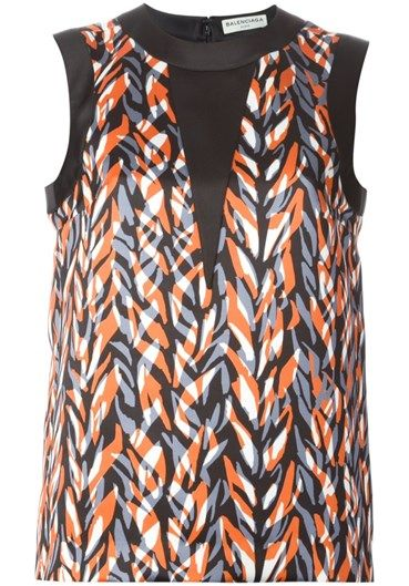 BALENCIAGA - Printed sleeveless top#alducadaosta #newarrivals #sixties #fever #trend #women #apparel #accessories #prints #colors #classy #style #fashion #fallwinter #fall #winter #collection #balenciaga