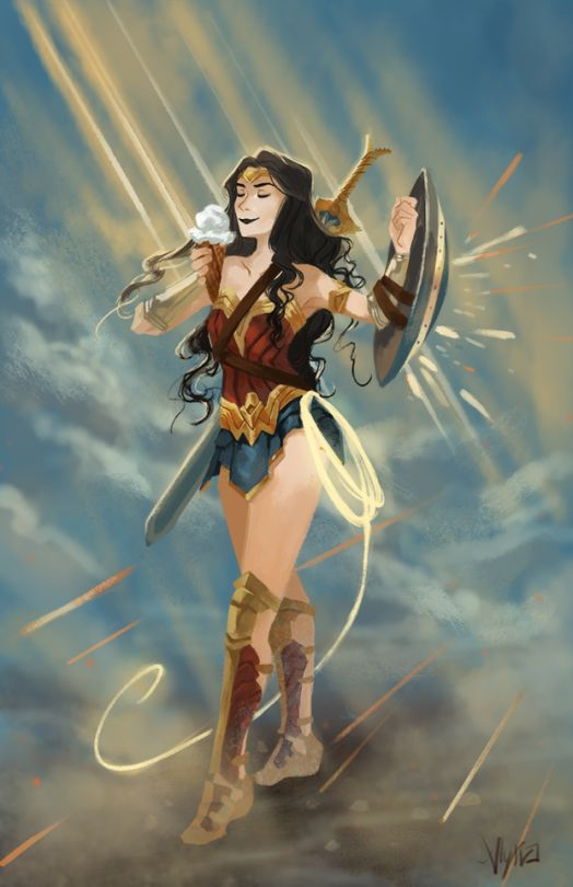 Ice cream break! What a cute movie  dc is outside my wheelhouse, so if I wanted to read anything wonder woman what are the must-read/classic comics I should look up?★➚↫_Wonder Woman_ ↬★➘