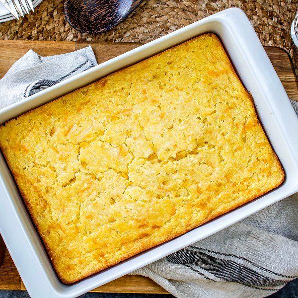 Creamed Corn Casserole Is An Easy Corn Casserole Recipe Made With Sweet Corn Jiffy Cornbread Eggs So Cream Corn Casserole Corn Casserole Recipe Creamed Corn