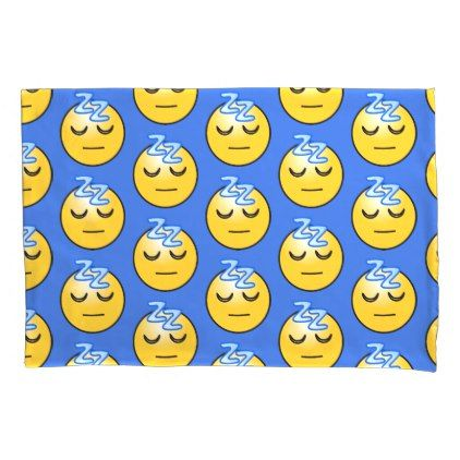 Sleeping emojis pillowcase - home gifts ideas decor special unique custom individual customized individualized