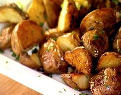 Heart Healthy Recipes - Roasted Garlic Potatoes (with green onions!)