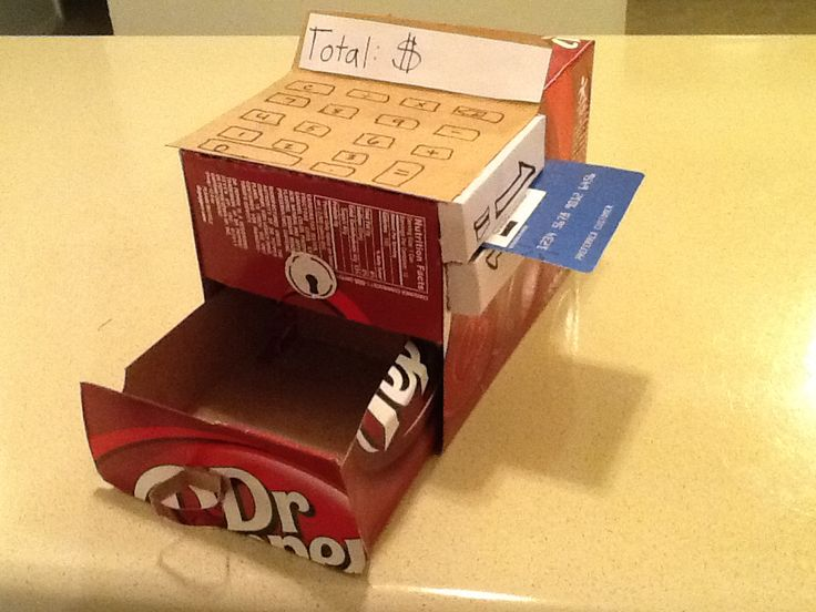 Dr pepper box cash register diy | classroom ideas ...