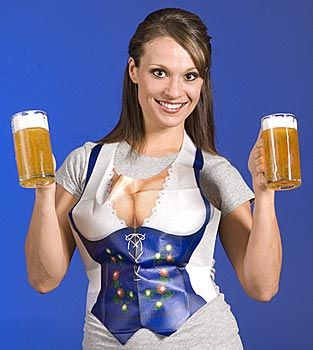 Plastic Fraulein Vests hahaha, I can just imagine the guys in this for the photo booth!