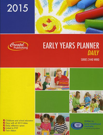 The Early Years Daily Planner is our popular diary for early childhood educators and teachers in the early years of primary. This 2015 version is packed practical layout that includes ample writing space for recording reflections, notes, meetings, focuses, interactions and learning experiences. The Early Years Daily Planner also features daily tips and reflections written by Early Childhood Australia (ECA) which are linked to the Early Years Learning Framework. This best-selling resource ...