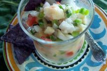 Gluten Free Halibut and Shrimp Ceviche Image Recipe Teri Gruss