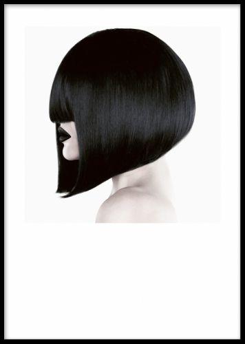 Fotokonst, Black Hair, poster. Poster med fotografi på kvinna i profil. En mycket snygg och elegant poster från www.desenio.se