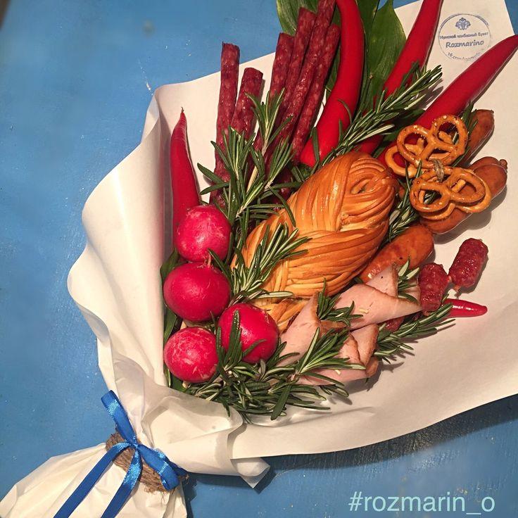 Мужской колбасный букет- студия Розмарино