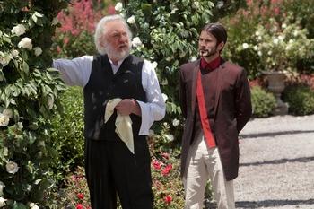 Seneca Crane and President Snow. The Hunger Games.