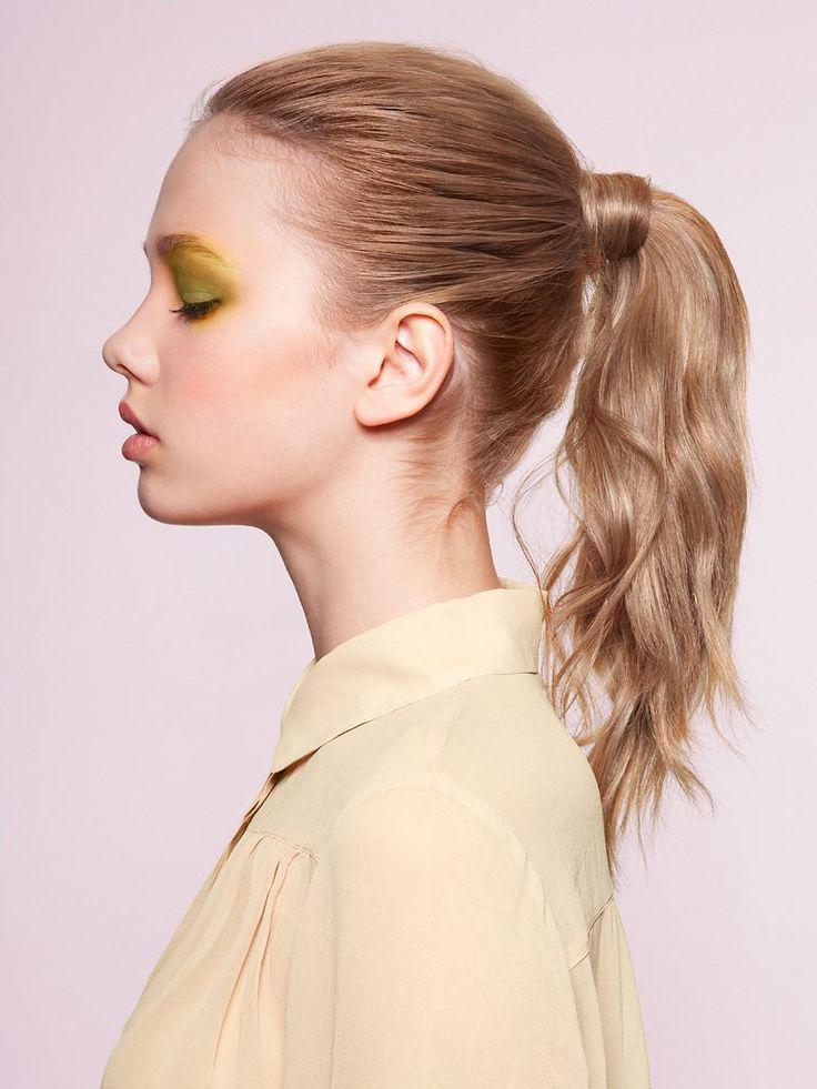 dSpring Makeup, Saga Wendott, Eye Makeup, Yellow Eye, Bright Eye, Beautiful, Soft Pastel, Hair, Ponies Tail